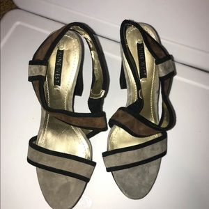 Nine West Shoes - Women's Multi colored platform heels, size 10